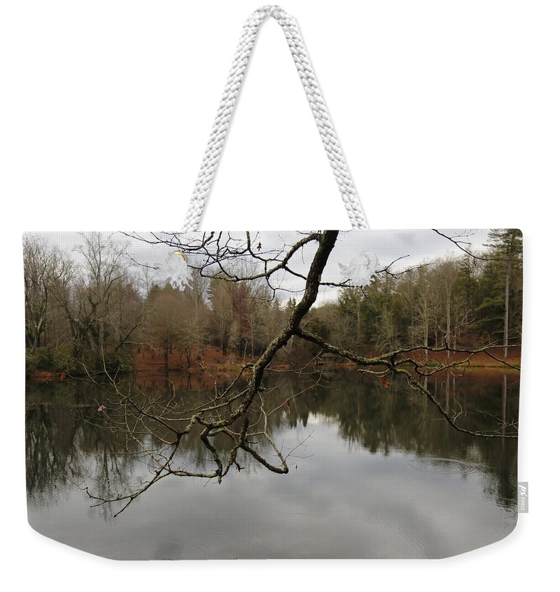 Digital Weekender Tote Bag featuring the photograph Branch And Water by Jeff Roney