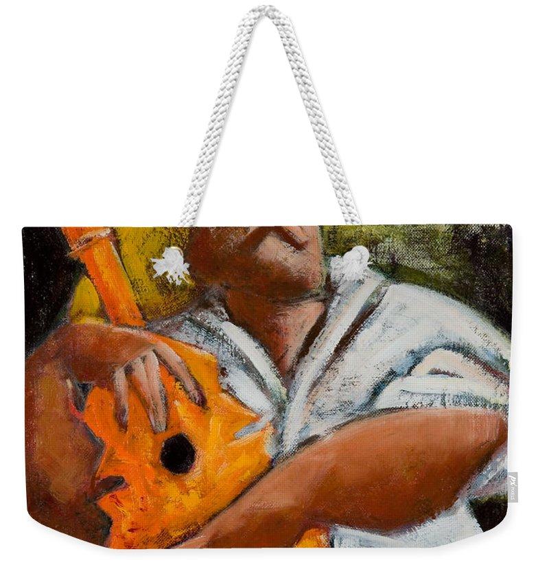 Puerto Rico Weekender Tote Bag featuring the painting Bravado Alla Prima by Oscar Ortiz