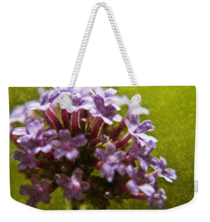Brazillian Weekender Tote Bag featuring the digital art Brazillian Verbena by Teresa Mucha