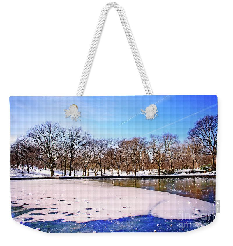 Nature Weekender Tote Bag featuring the photograph Break The Ice by Anna Serebryanik