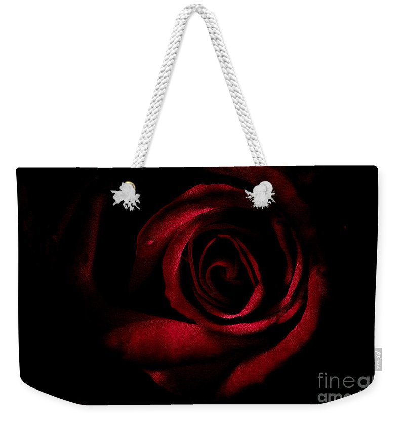 Rose Weekender Tote Bag featuring the photograph Break Through by Kim Henderson