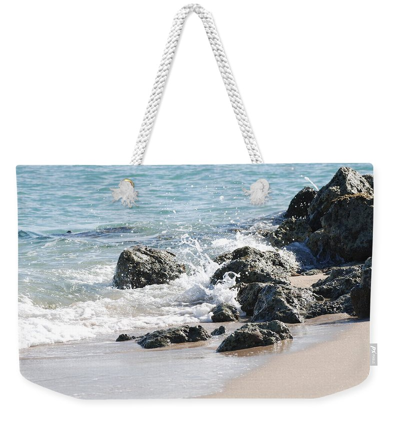 Scenic Weekender Tote Bag featuring the photograph Breakers by Rob Hans