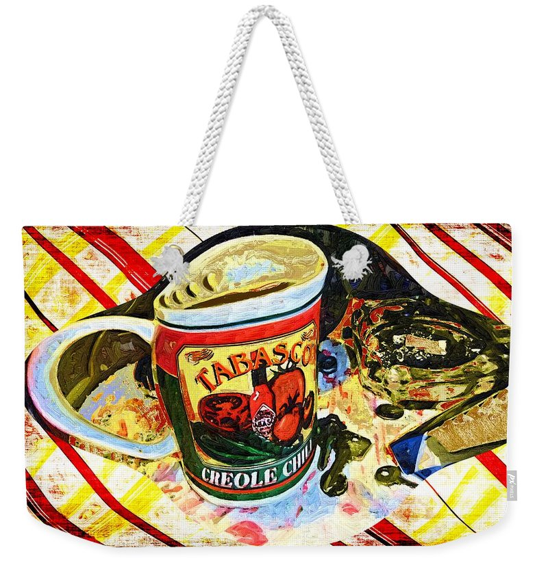 Still Life Weekender Tote Bag featuring the painting Breakfast For One by RC DeWinter