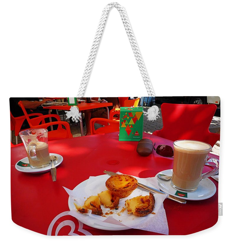 Desayuno Weekender Tote Bag featuring the photograph Breakfast In Portugal by Charles Stuart