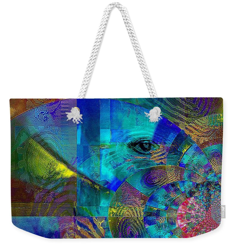 Fania Simon Weekender Tote Bag featuring the mixed media Breaking Borders by Fania Simon