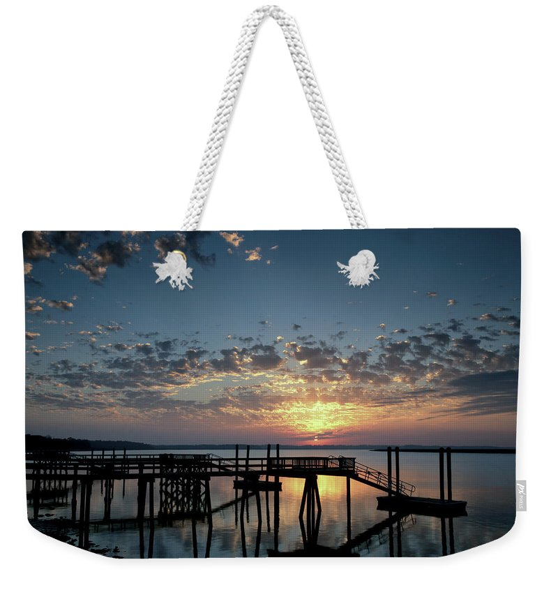 Landscape Weekender Tote Bag featuring the photograph Breaking Clouds by Phill Doherty
