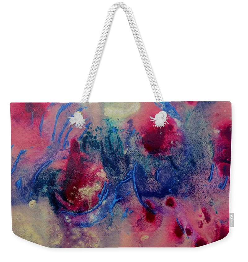 Abstract Painting Weekender Tote Bag featuring the painting Breaking Out by Louise Adams