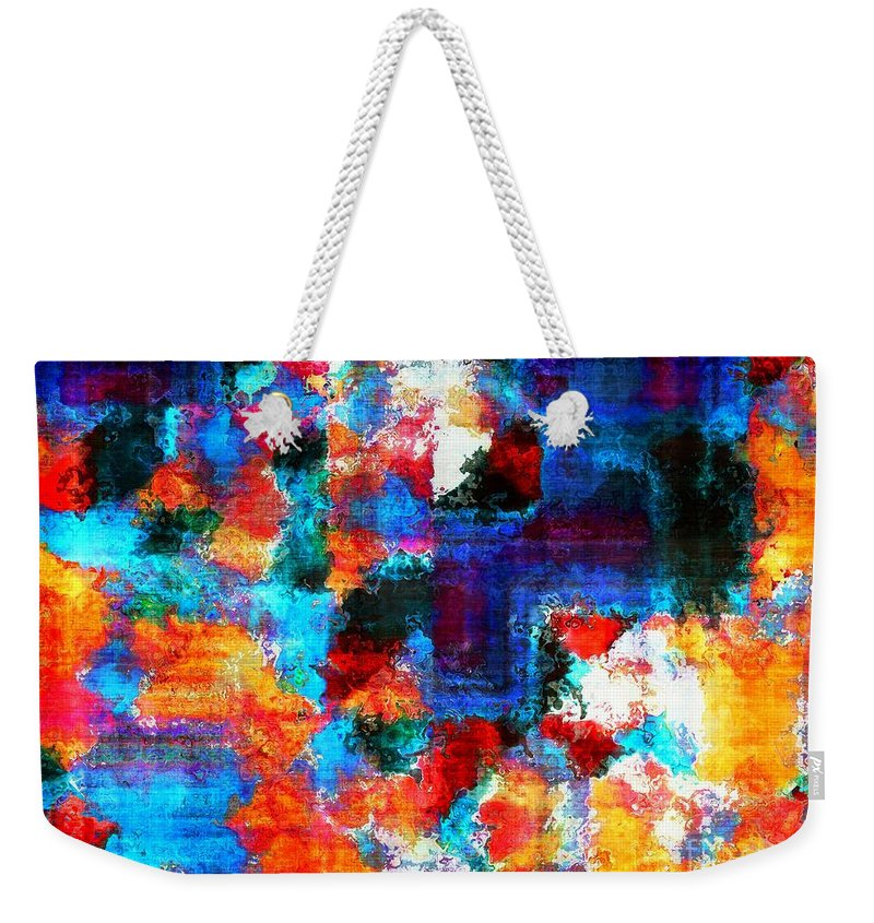 Abstract Weekender Tote Bag featuring the painting Breaking The Rules by RC DeWinter