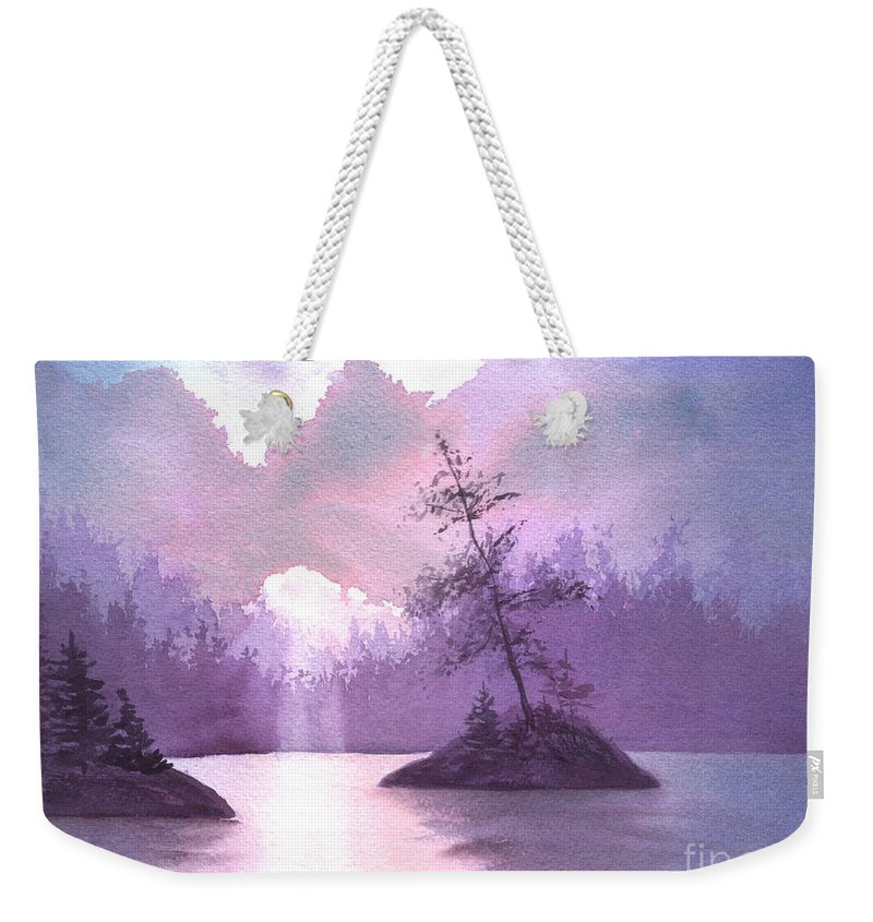 Landscape Weekender Tote Bag featuring the painting Breakthrough by Lynn Quinn