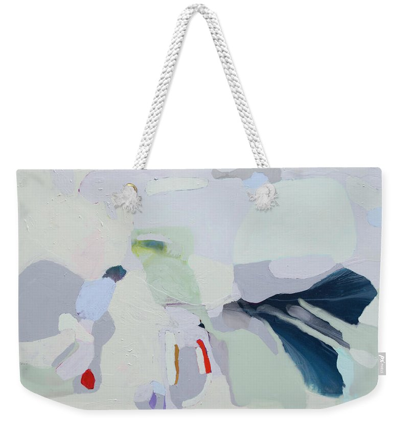 Abstract Weekender Tote Bag featuring the painting Breathe by Claire Desjardins