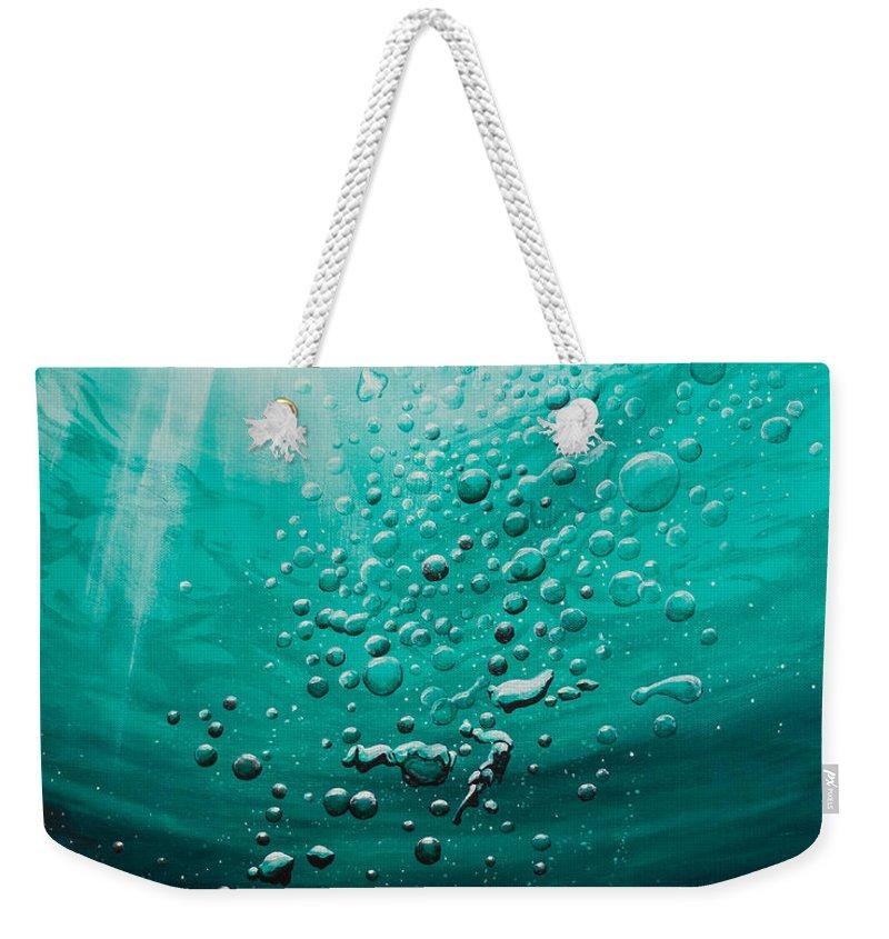 Underwater Weekender Tote Bag featuring the painting Breathtaking by Tripp Doogan