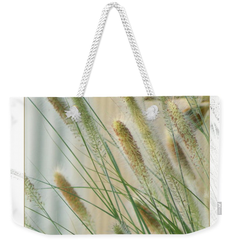 Floral Weekender Tote Bag featuring the photograph Breeze by Holly Kempe