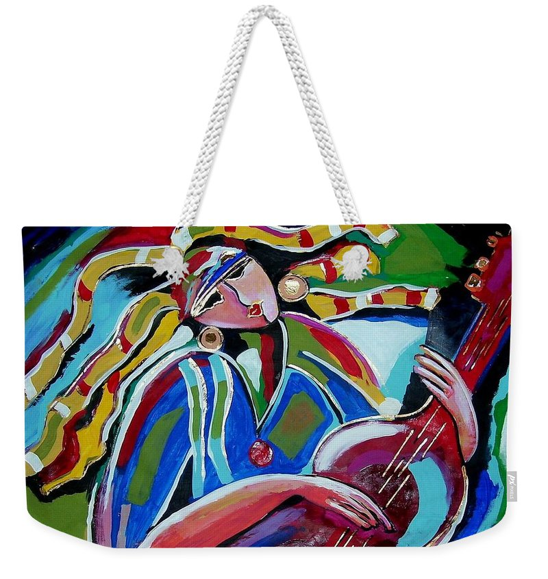 Music Weekender Tote Bag featuring the painting Breezy by Gina Hulse