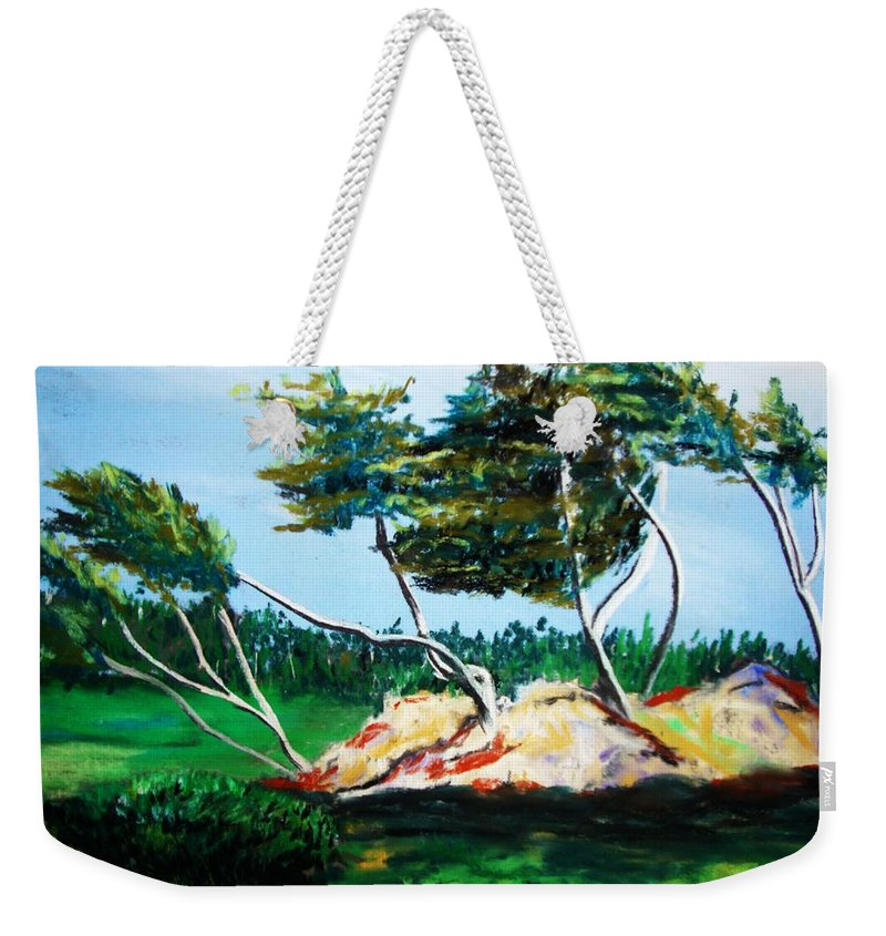 California Weekender Tote Bag featuring the painting Breezy by Melinda Etzold