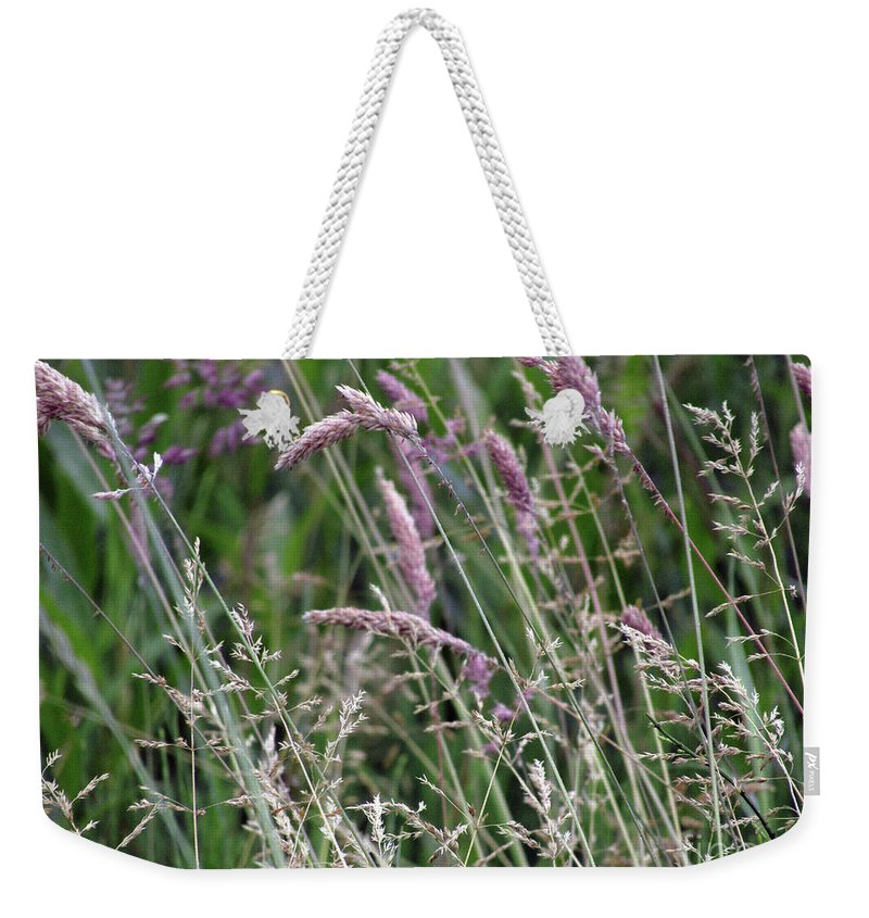 Grass Weekender Tote Bag featuring the photograph Breezy Summer 3 by Kim Tran
