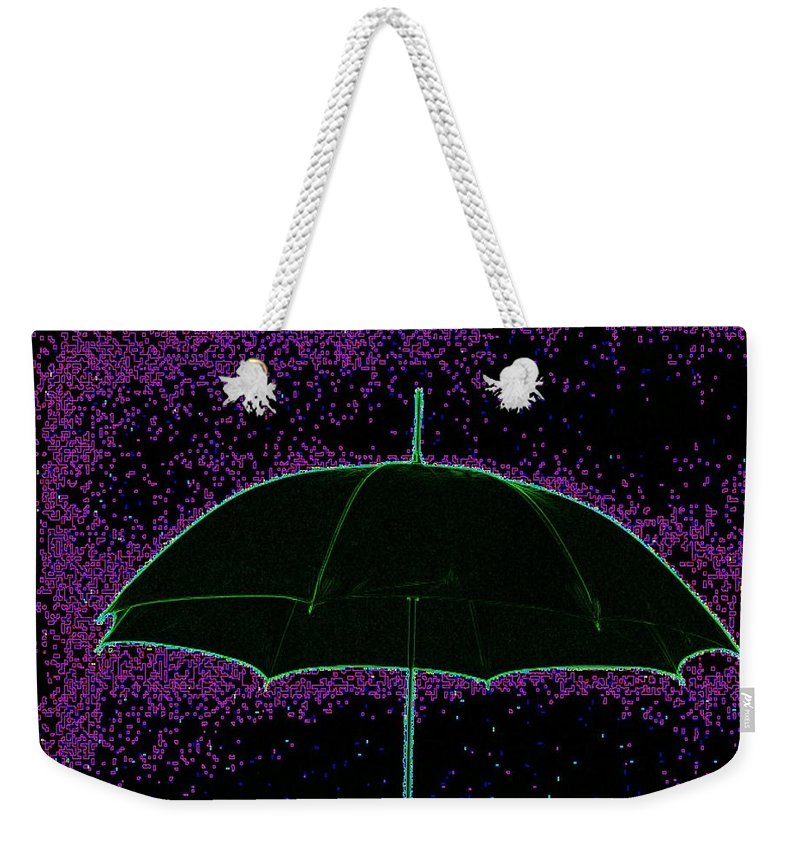 Umbrella Weekender Tote Bag featuring the photograph Brella by Tim Allen