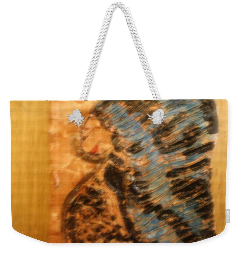 Jesus Weekender Tote Bag featuring the ceramic art Brenda -tile by Gloria Ssali
