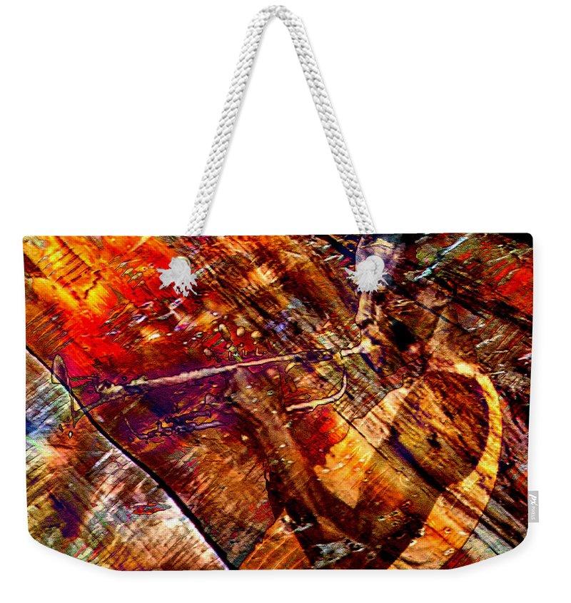 Miles Davis Weekender Tote Bag featuring the digital art Brew by Ken Walker