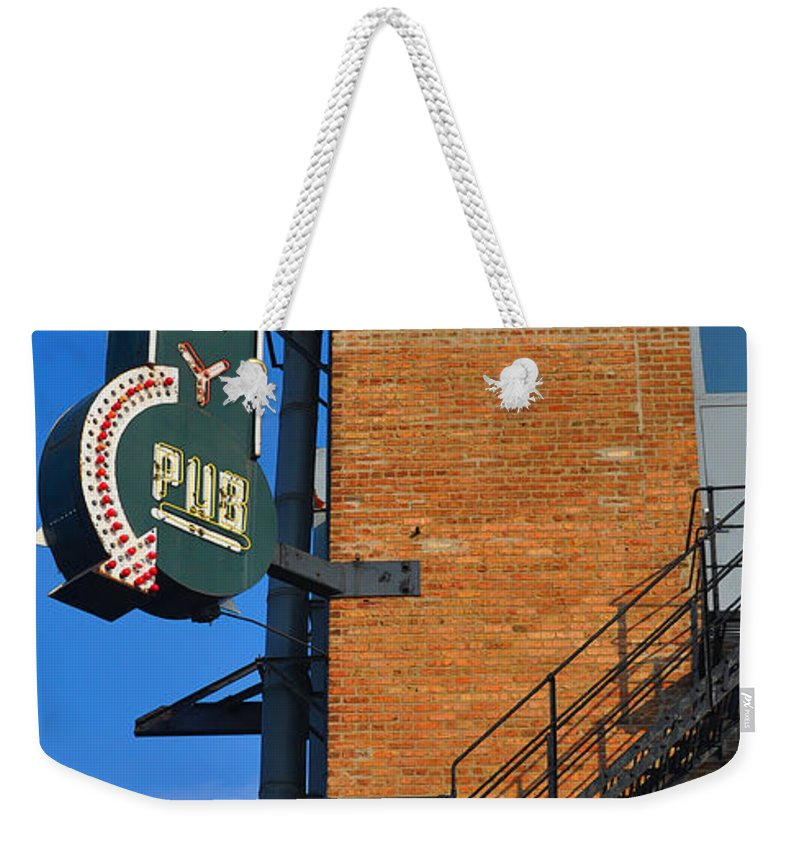Chicago Weekender Tote Bag featuring the photograph Brewery Pub by Tim Nyberg