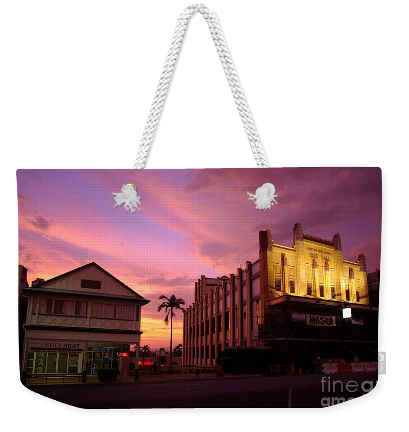 Evening Weekender Tote Bag featuring the photograph Brewing Storm by Kerryn Madsen- Pietsch