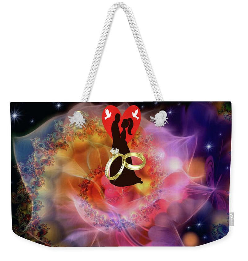 Art Weekender Tote Bag featuring the digital art Brian Exton Night Flowers Bigstock 164301632 231488 by Mitchell Watrous