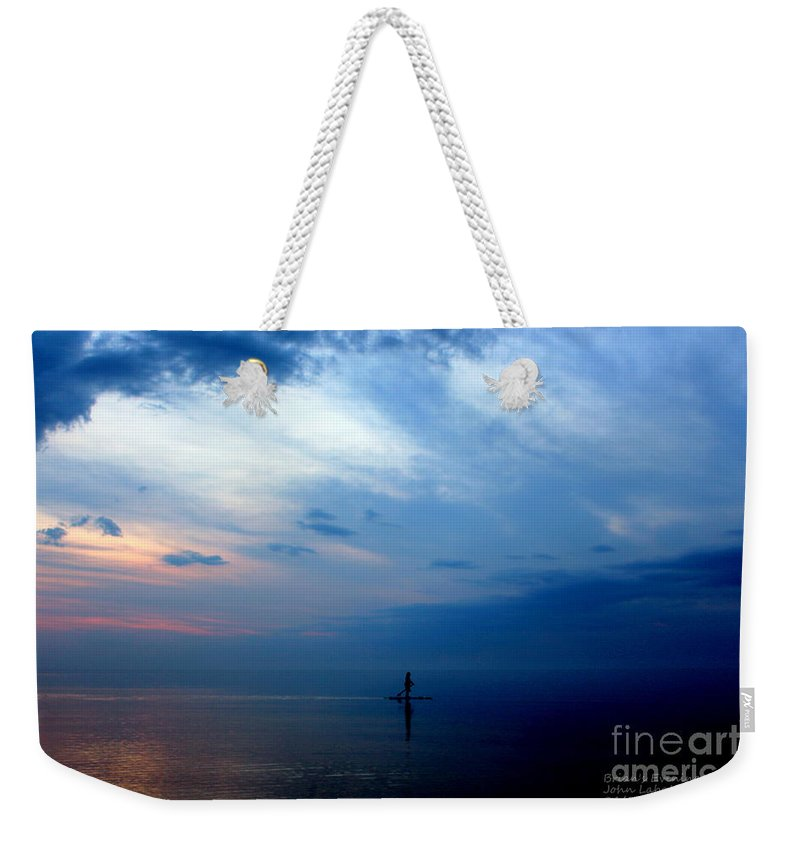 Grand Bend Weekender Tote Bag featuring the photograph Brian's Evening Workout 3 by John Scatcherd