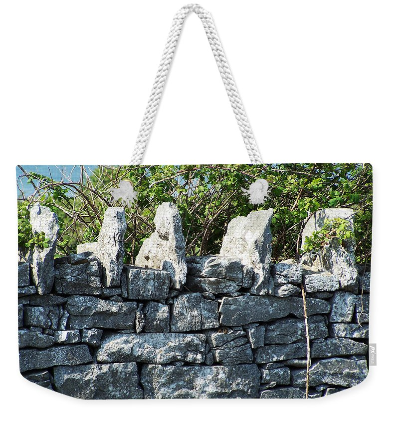 Irish Weekender Tote Bag featuring the photograph Briars And Stones New Quay Ireland County Clare by Teresa Mucha