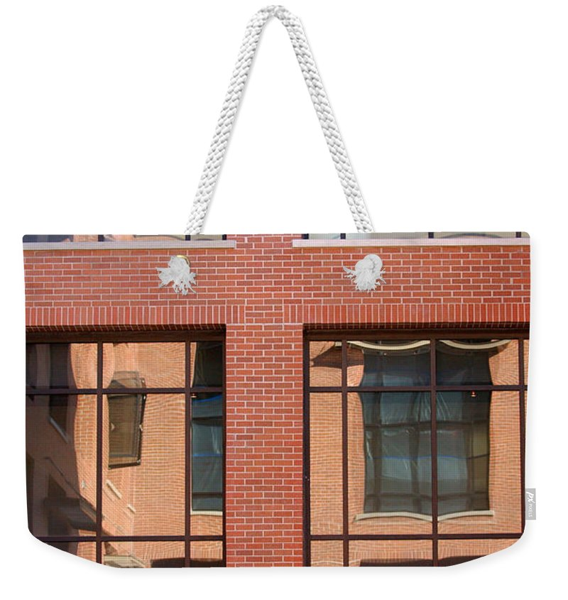 Architecture Weekender Tote Bag featuring the photograph Brick Building by Jill Reger