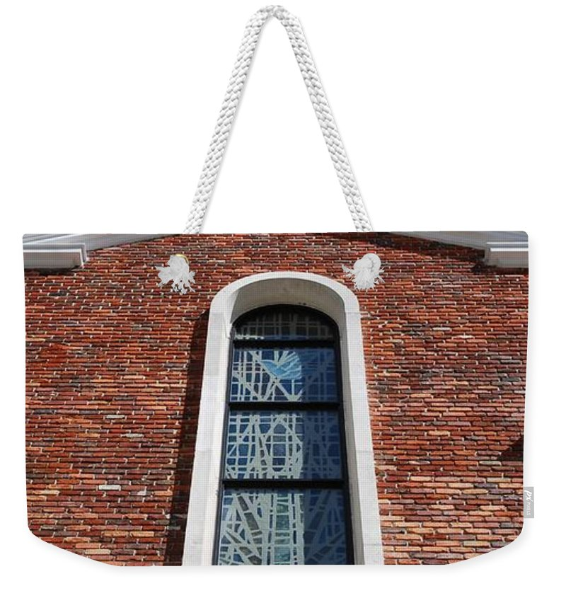 Architecture Weekender Tote Bag featuring the photograph Brick Church by Rob Hans
