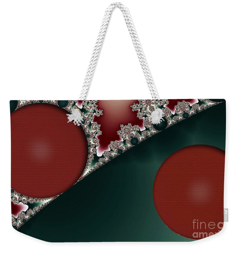 Clay Weekender Tote Bag featuring the digital art Brick Foundation by Clayton Bruster