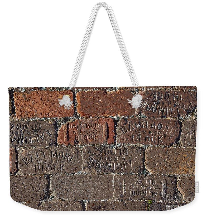 Street Weekender Tote Bag featuring the painting Brick Street by David Lee Thompson