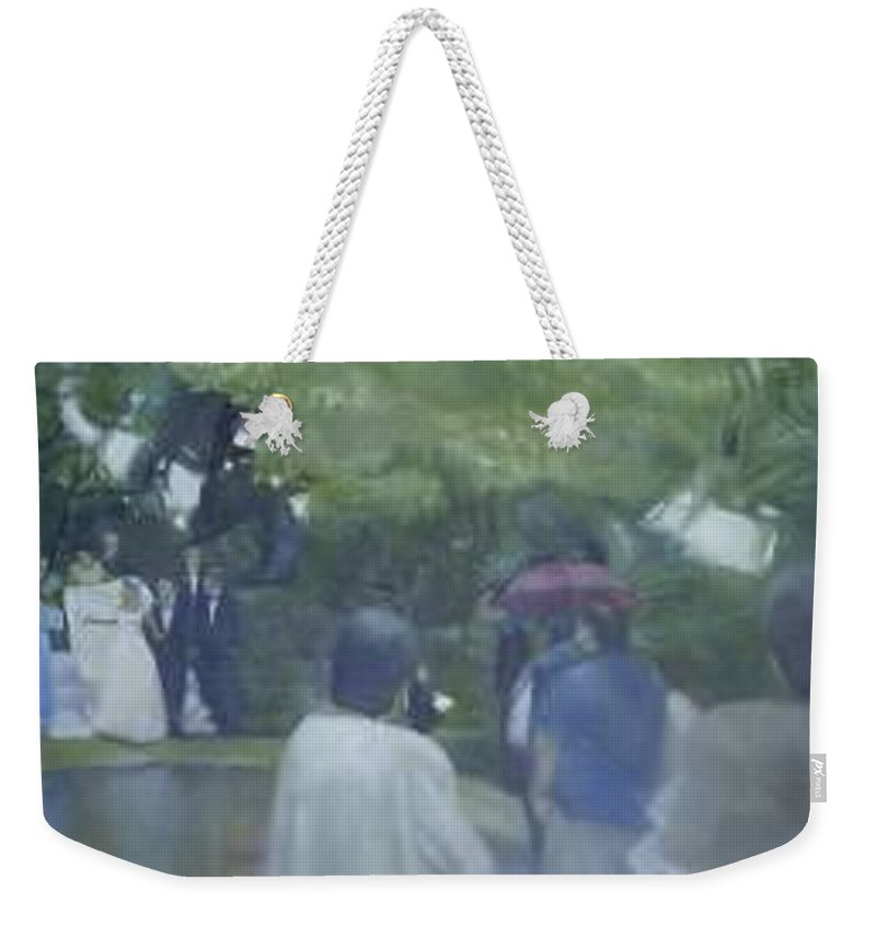 Wedding Weekender Tote Bag featuring the painting Bridal Showers by Sheila Mashaw
