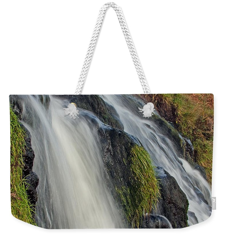 Scotland Weekender Tote Bag featuring the photograph Bridal Veil Falls by Colette Panaioti