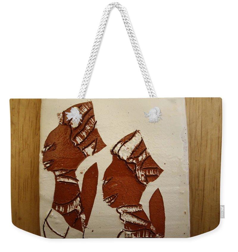 Jesus Weekender Tote Bag featuring the ceramic art Brides Await - Tile by Gloria Ssali