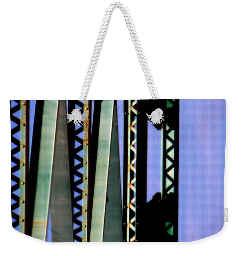 Bridge Weekender Tote Bag featuring the photograph Bridge by Amanda Barcon