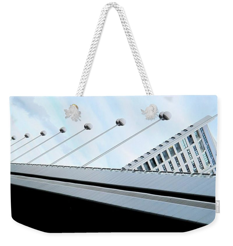 Vienna Weekender Tote Bag featuring the photograph Bridge Over The Danube by Ian MacDonald