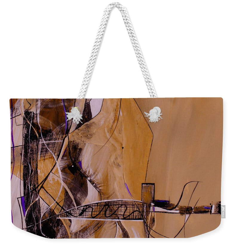 ruth Palmer Weekender Tote Bag featuring the painting Bridge Over Troubled Water by Ruth Palmer