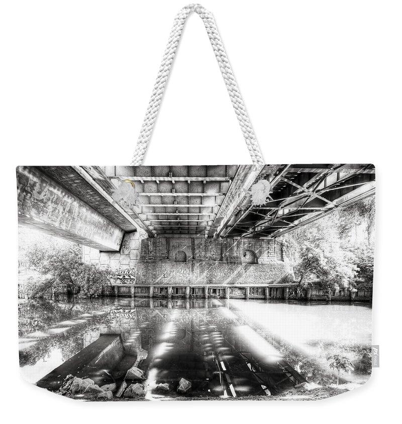 Bridge Weekender Tote Bag featuring the photograph Bridge Over Troubled Water by Wayne Sherriff
