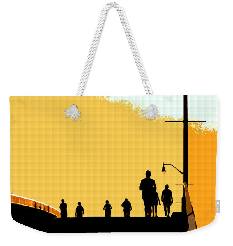 Bridge Weekender Tote Bag featuring the photograph Bridge People by David Lee Thompson