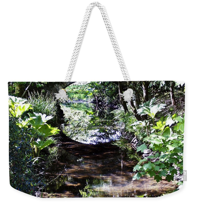 Irish Weekender Tote Bag featuring the photograph Bridge Reflection At Blarney Caste Ireland by Teresa Mucha
