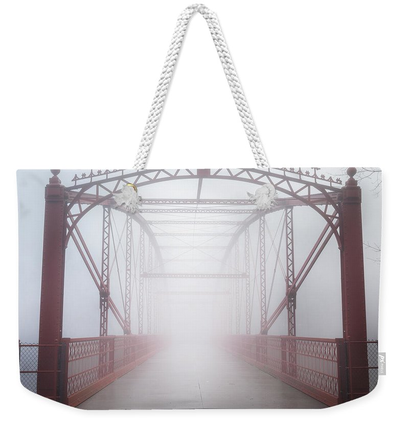 Bridge Weekender Tote Bag featuring the photograph Bridge To Nowhere by Bill Wakeley