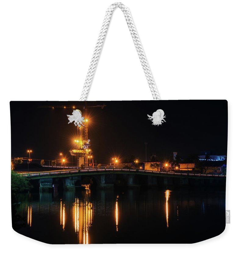 Bridge Weekender Tote Bag featuring the photograph Bridges And Construction by Abhishek S Padmanabhan