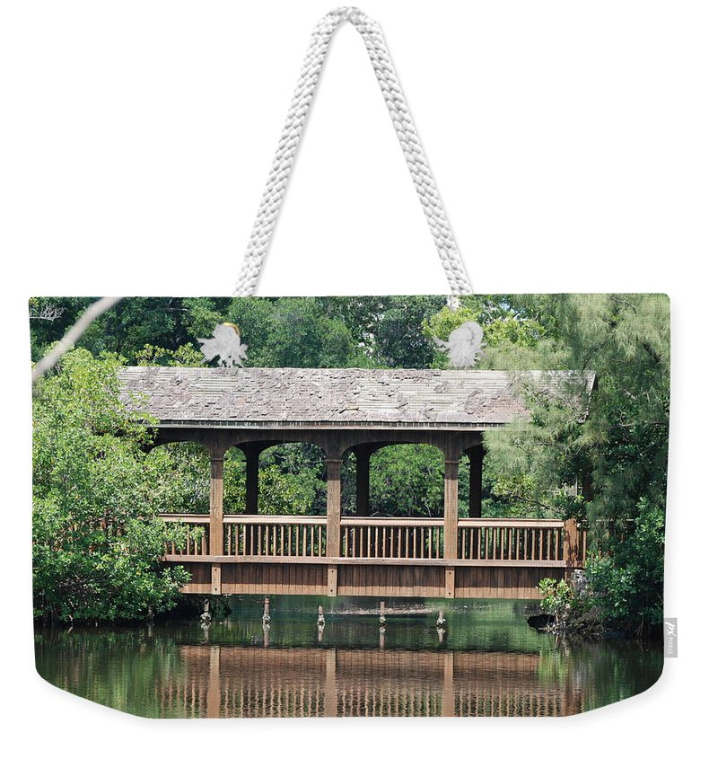 Architecture Weekender Tote Bag featuring the photograph Bridges Of Miami Dade County by Rob Hans