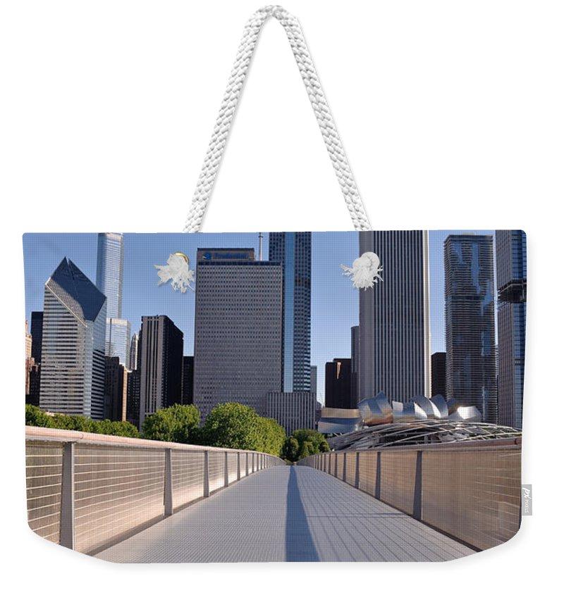 Art Weekender Tote Bag featuring the photograph Bridgeway To Chicago by Steve Gadomski