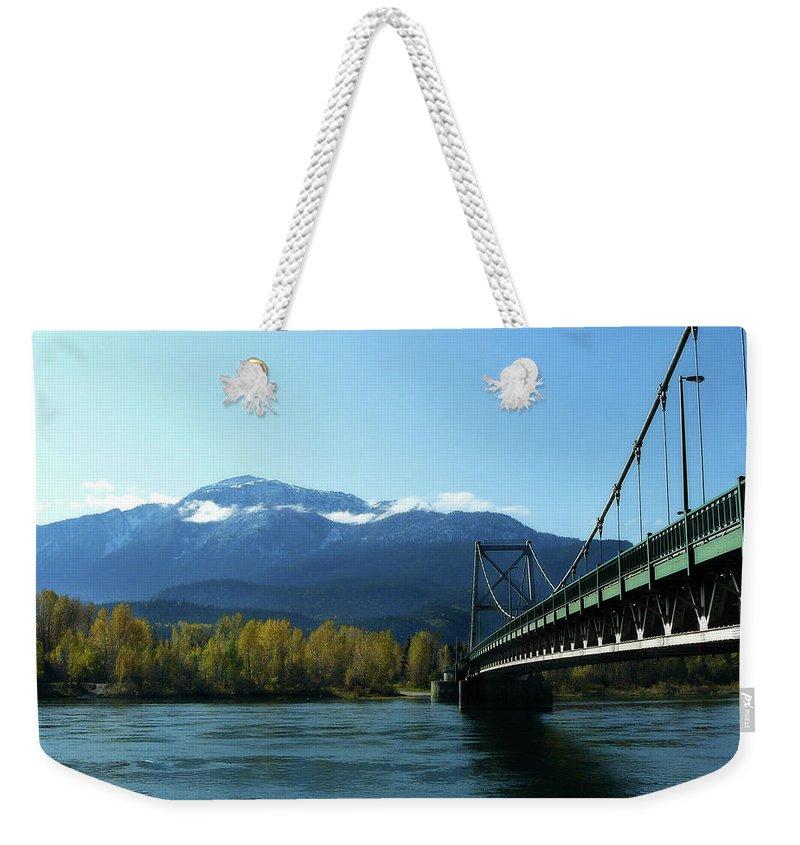 Lisa Knechtel Weekender Tote Bag featuring the photograph Bridging The Seasons by Lisa Knechtel