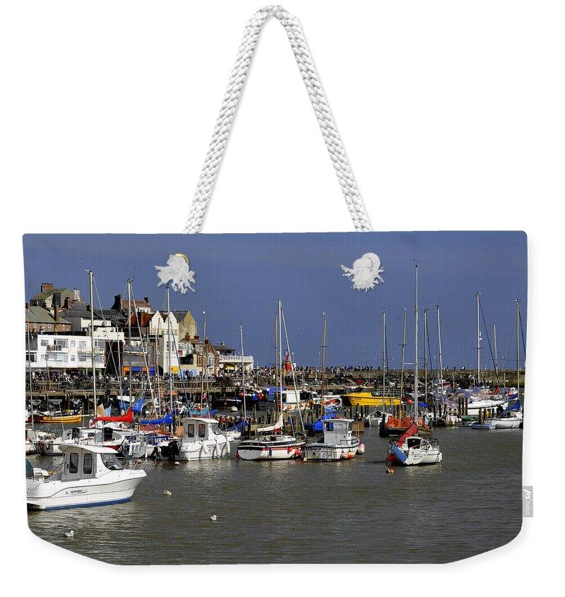 Bridlington Weekender Tote Bag featuring the photograph Bridlington Harbour by Rod Johnson