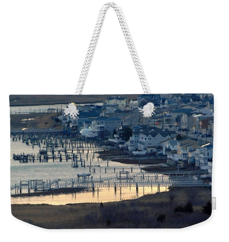 Nj Weekender Tote Bag featuring the photograph Brigantine Dawn by Arlane Crump