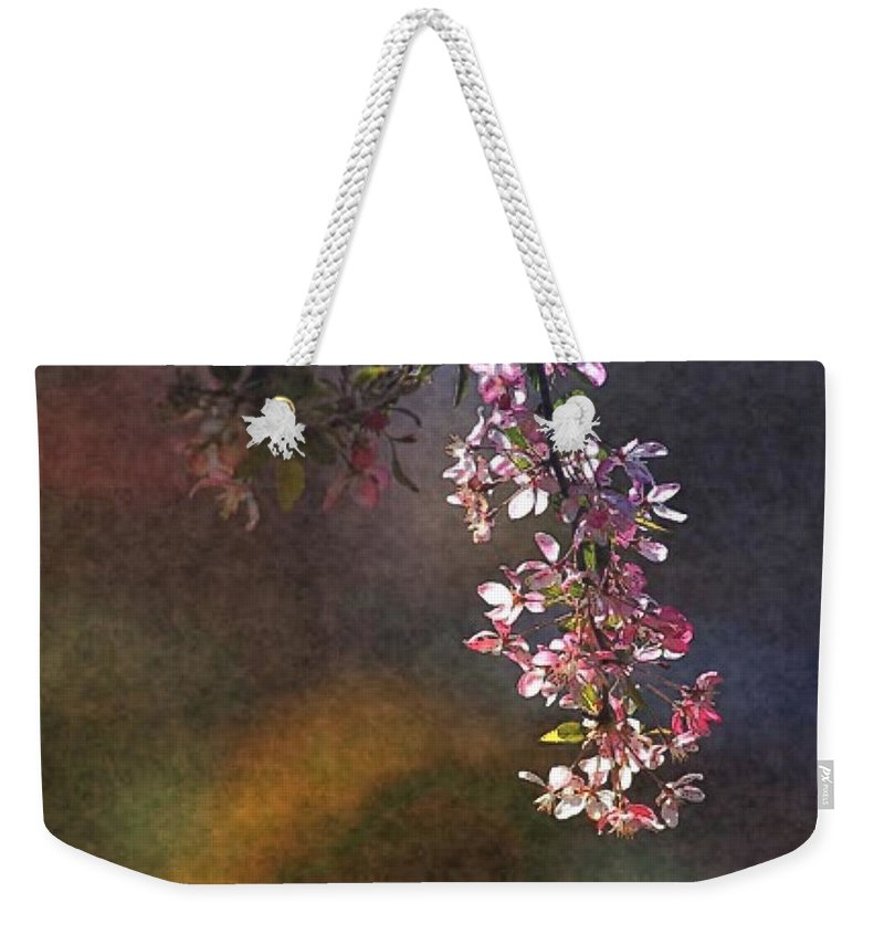 Tree Branch Weekender Tote Bag featuring the digital art Bright Bough by Ellen Cannon