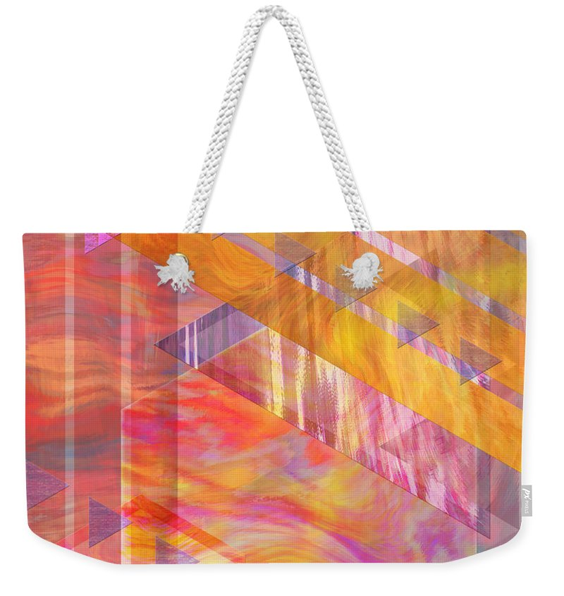 Affordable Art Weekender Tote Bag featuring the digital art Bright Dawn by John Beck