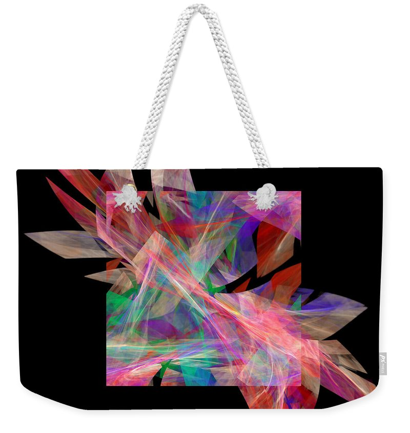 Abstract Weekender Tote Bag featuring the digital art Bright Elegance B. by Galina Lavrova